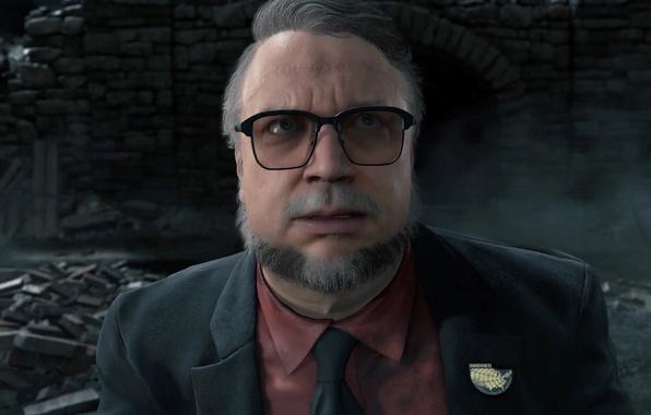 Picture game, man, suit, Kojima Productions, tie, scar, Bridges, Hideo Kojima, Death Stranding, Sony Interactive Entertainment