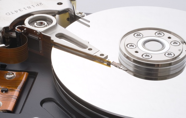 Picture metal, data, information, hard disk