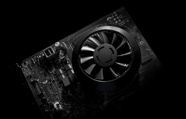 Picture plastic, black and white, cooler, video card, electronica