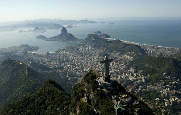 Picture sea, Brazil, sea, Rio de Janeiro, Brazil, Cristo Redentor, Rio de Janeiro, Corcovado, Sugar Loaf, …