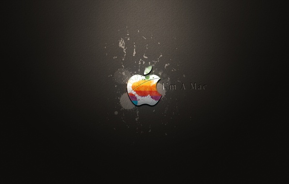 Picture apple, blots, i'm a mac