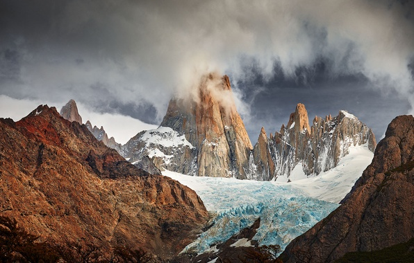 Picture glacier, South America, Patagonia, the Andes mountains