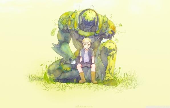 Picture manga, Edward, manga, Fullmetal Alchemist, Alphonse