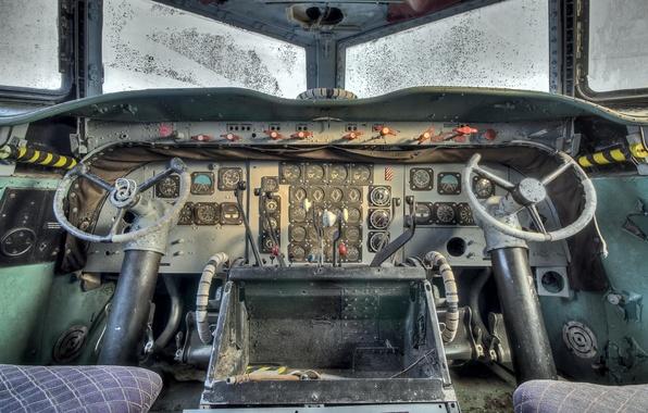 Picture cabin, the plane, scrap