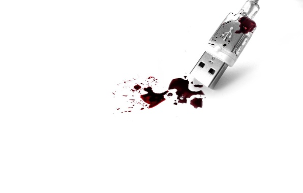 Picture white, blood, USB