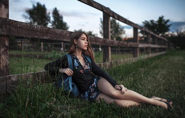 Picture girl, sunset, the beauty, Maria, Masha, George Chernyadev