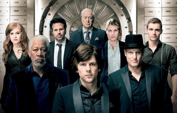Picture Isla Fisher, Mark Ruffalo, Morgan Freeman, Michael Caine, The illusion of deception, Jesse Eisenberg, Woody …