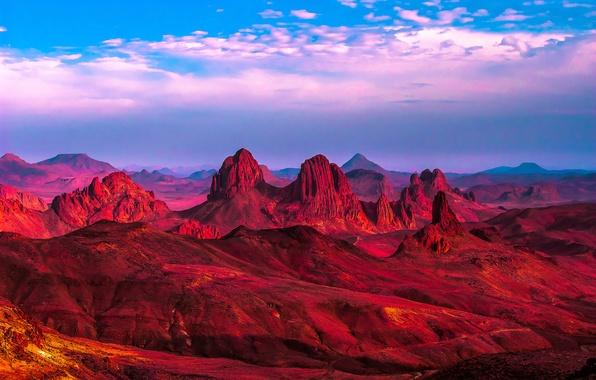 Picture sand, mountains, rocks, desert, Africa, Algeria, Sugar