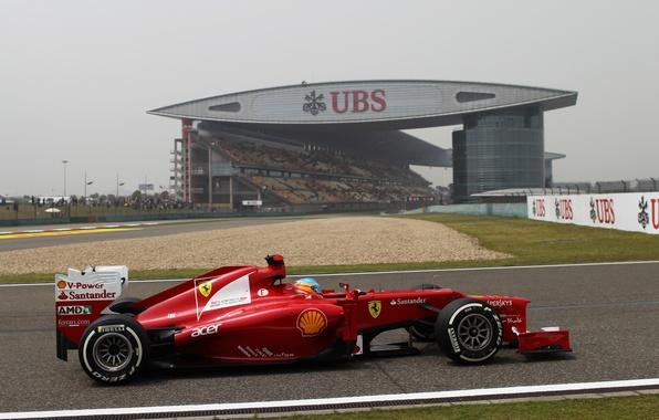 Picture Formula 1, Ferrari, Shanghai, Fernando Alonso, Fernando Alonso, f2012