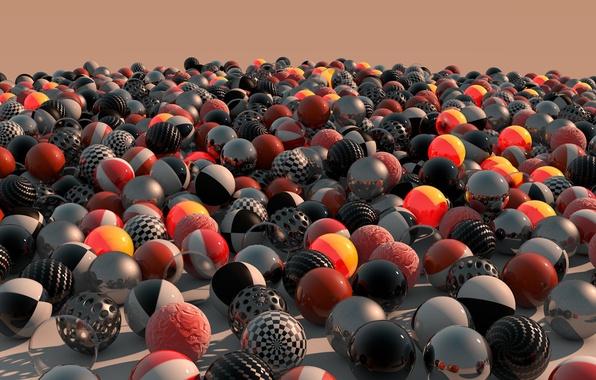 Picture colors, balls, dawn