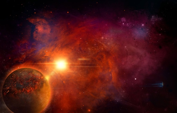 Picture space, planet, stars, Homeworld, remastered, mothership