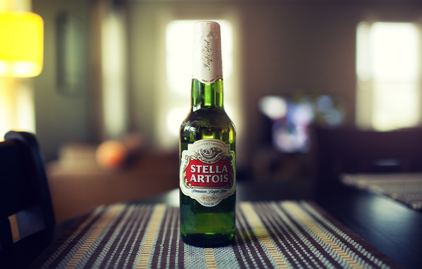 Picture bottle, beer, stella artois