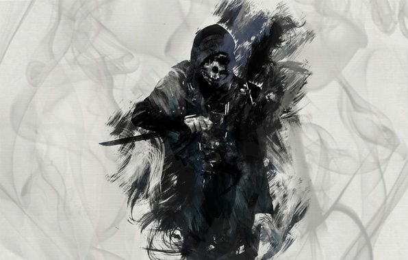 Picture game, art, knife, killer, art, knife, dishonored, corvo attan, Corvo