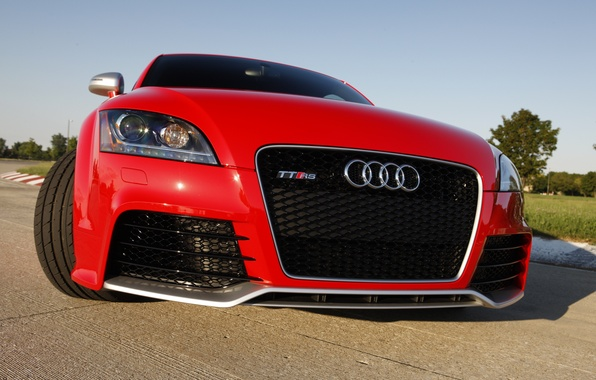 Picture Audi, Audi, red, TT RS