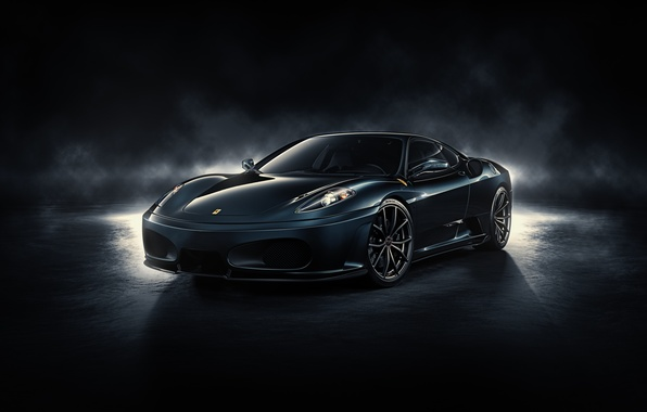 Picture F430, Ferrari, front, by DuronDesign, Midnight Black