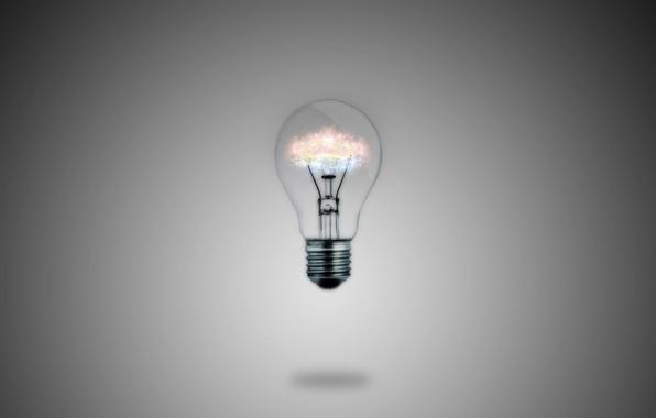 Picture light bulb, macro, light, lamp, minimalism