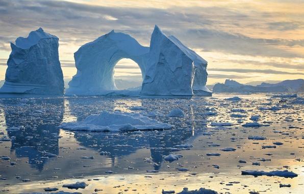 Picture Bay, icebergs, Greenland, Greenland, Disko Bay, Disko Bay