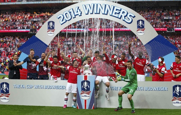 Picture background, victory, Arsenal, tribune, Arsenal, Football Club, the gunners, The Gunners, football club, The FA …