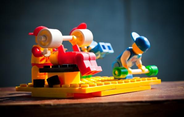 Picture macro, sport, toys, designer, lego, rod, Pitching, rocking, bench
