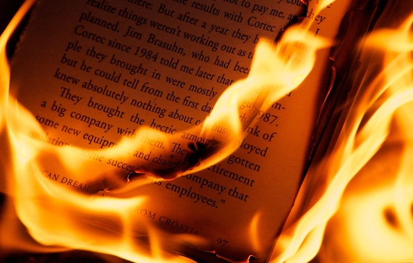Picture macro, letters, fire, leaves, book, Different, PLMA