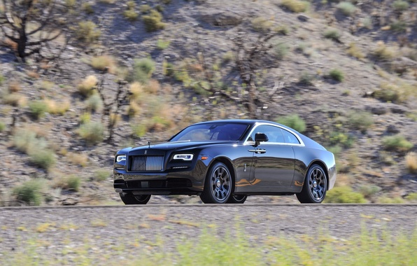 Picture car, coupe, Rolls-Royce, car, wallpapers, rolls-Royce, Wraith, Black Badge