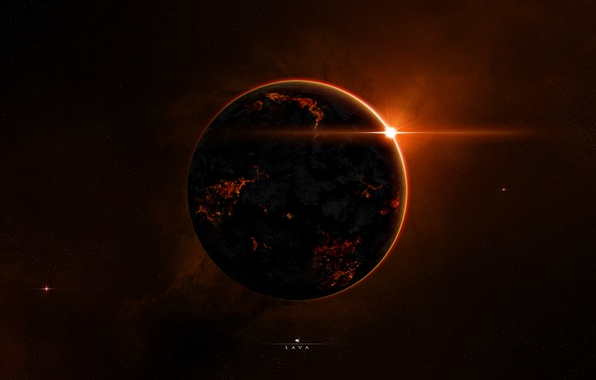 Picture light, red, planet