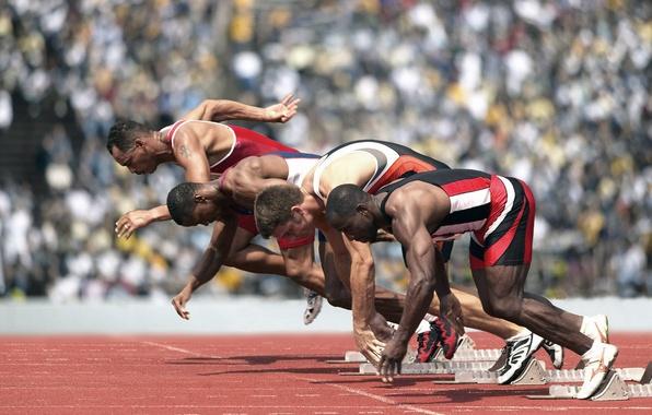 Picture sport, running, sprint, start, sneakers, stadium, athletics