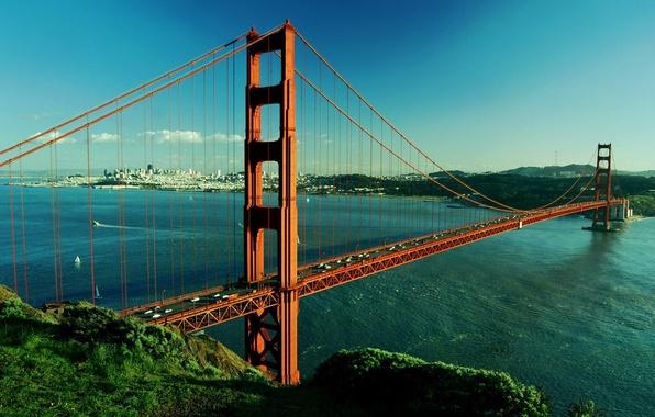 Picture river, Bridge, San Francisco, Golden Gate
