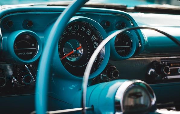 Picture retro, Chevrolet, the wheel, classic, Bel Air