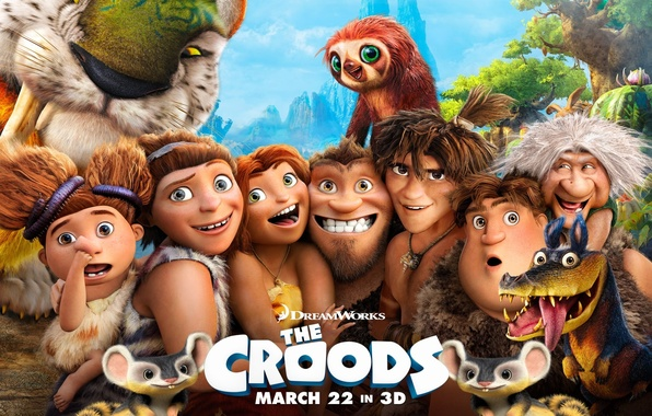 Picture cartoon, the croods, dreamworks, the croods