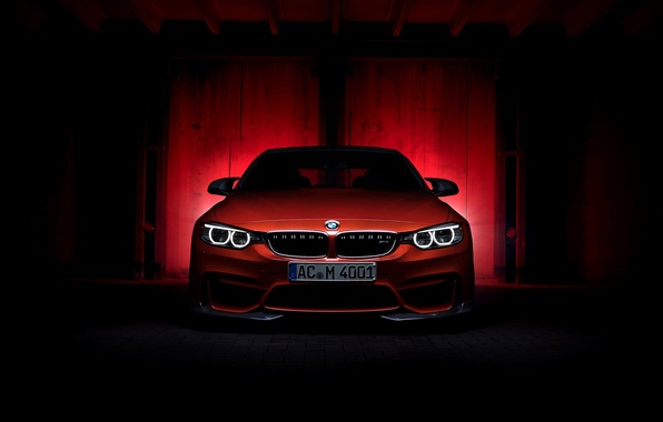 Picture BMW, red, Coupe, front, F82