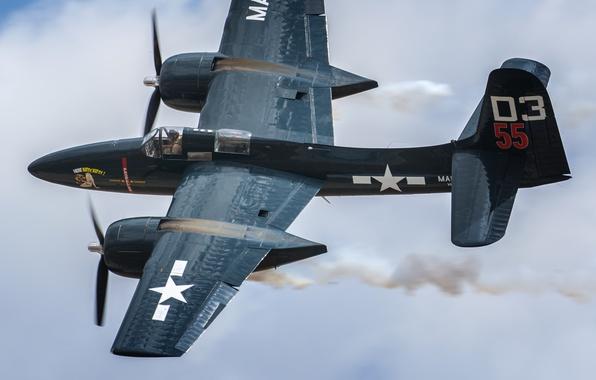 Picture fighter, Grumman, deck, Tigercat, F7F
