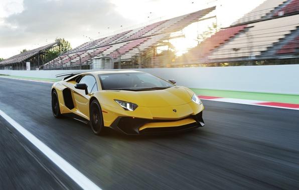 Picture Lamborghini, yellow, Aventador, Superveloce, LP-750
