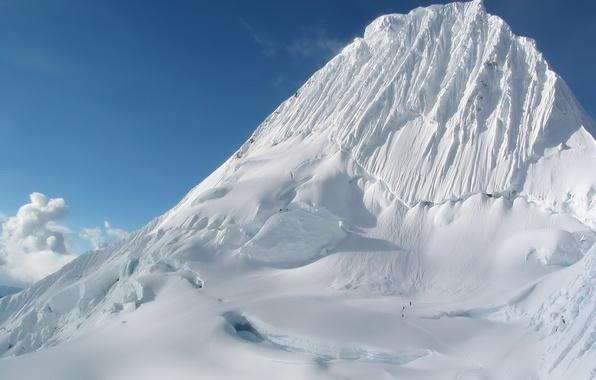 Picture snow, trail, Mountain, glacier