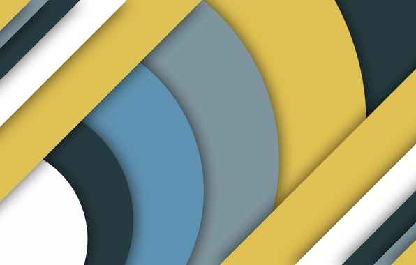Picture line, yellow, grey, blue, geometry, material