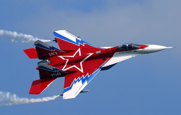 Picture red, the plane, star, MIG