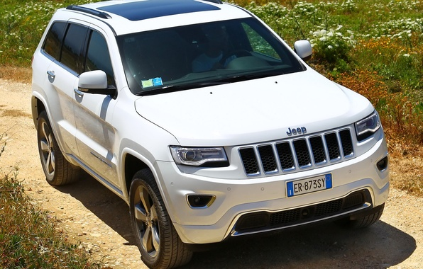 Picture machine, white, the front, Jeep, Grand Cherokee, Overland