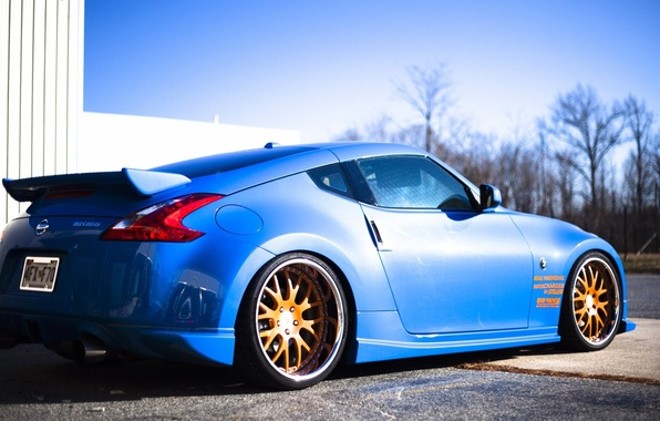 Picture Auto, Blue, Tuning, Auto, Nissan 370, Nissan 370z
