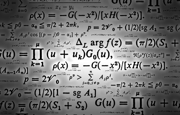 Picture background, characters, signs, formula, math, laws, calculations