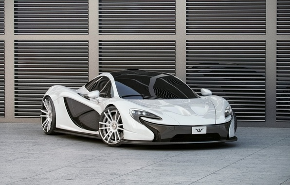 Picture McLaren, White, Tuning, Carbon, Wheelsandmore, The front