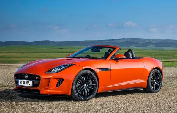 Picture machine, Jaguar, Jaguar, convertible, beautiful, F-Type, V8 S