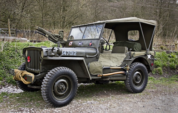 "Picture war, car, army, Jeep, high, patency, world, Second, times, ""Willis-MV"", Willys MB"