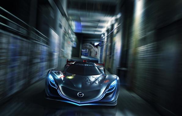 Picture Concept, Mazda, Mazda, Car, Speed, Front, Furai, Furai