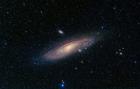 Picture space, stars, Andromeda, Galaxy