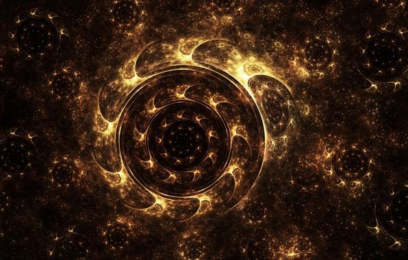 Picture lights, pollen, round, wheel, art, fractal