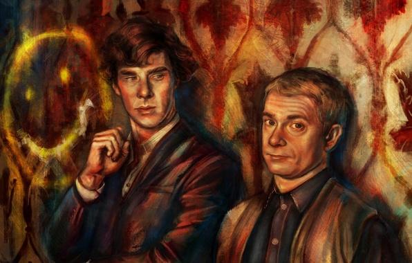 Picture the series, BBC, martin freeman, benedict cumberbatch, sherlock, Sherlock Holmes, john watson