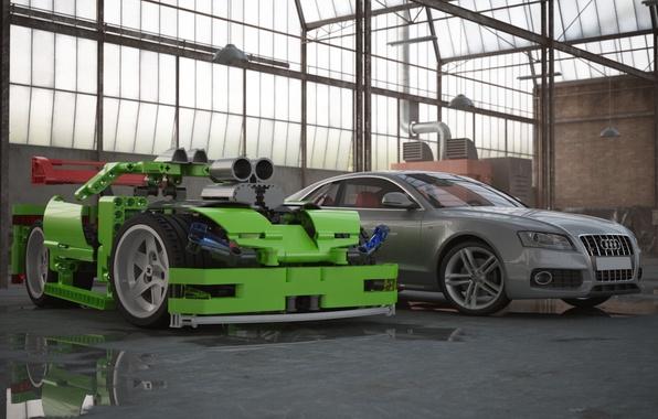 Picture auto, audi, composition, cars, Lego