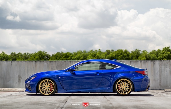 Picture machine, auto, trees, Lexus, wheels, drives, auto, Forged, side, 2015, Vossen Wheels, VPS-308