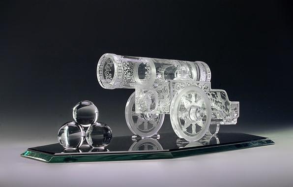 Picture glass, wheel, mirror, crystal, gun, engraving, decor, kernel, Gus ' -Khrustal'nyy