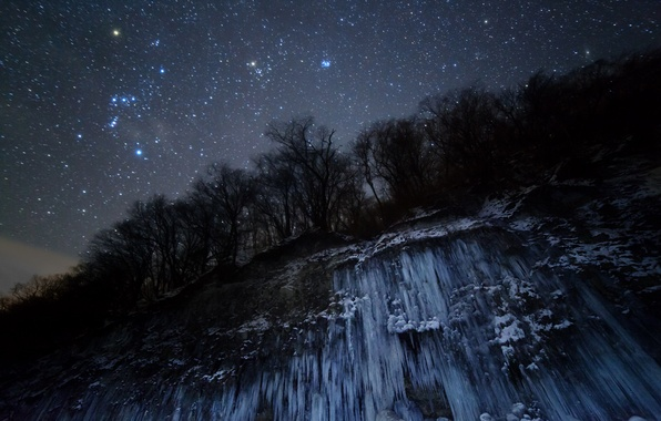 Picture space, stars, night, nature